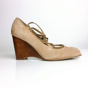 Adrienne Vittadini Smily Suede Wedge Heels
